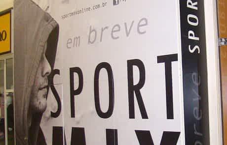 Adesivo em tapume - SportMix