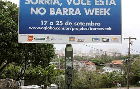 Painel em lona - Barra